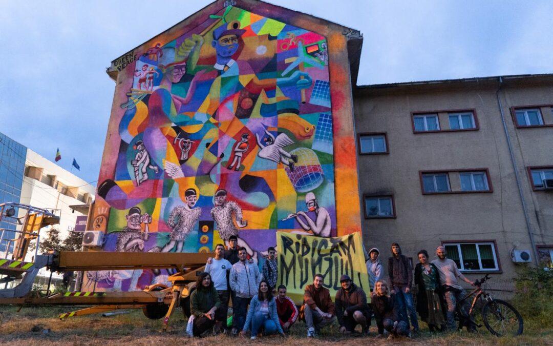 Mural Greenpeace și Valea Jiului Implicată, în Petroșani